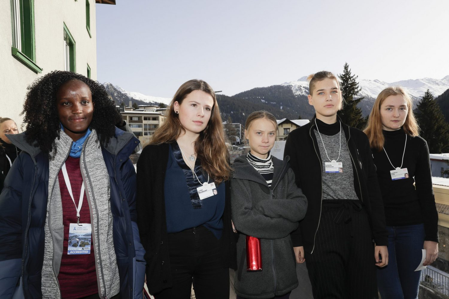 Vanessa Nakate in Original Group Photo from Davos